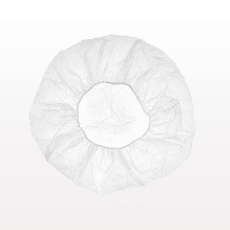 Disposable Bouffant Cap, White