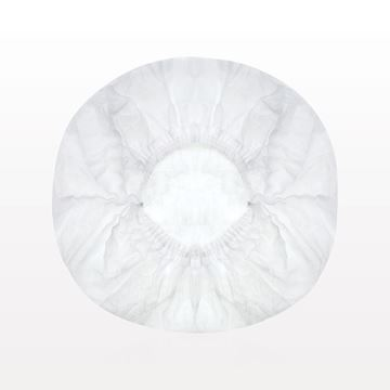 Disposable Gathered Bouffant Cap, White