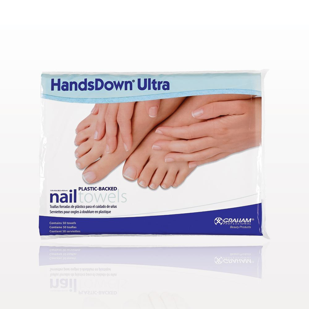 Qosmedix Graham Handsdown 174 Ultra Plastic Backed Nail Towels