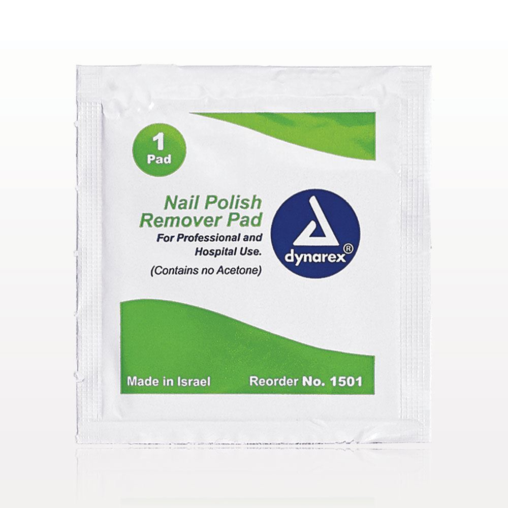 Qosmedix. dynarex® Non-Acetone Nail Polish Remover Pads