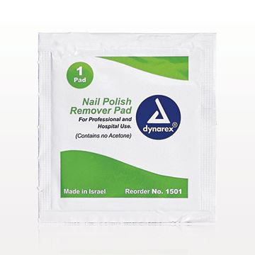 dynarex® Non-Acetone Nail Polish Remover Pads