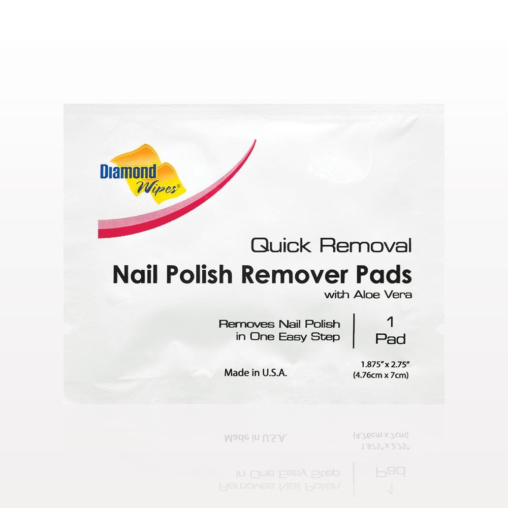 Qosmedix. Diamond Wipes Acetone Nail Polish Remover Pads