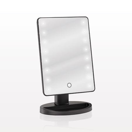 Attirant Picture Of LED Lighted Table Top Cosmetic Mirror
