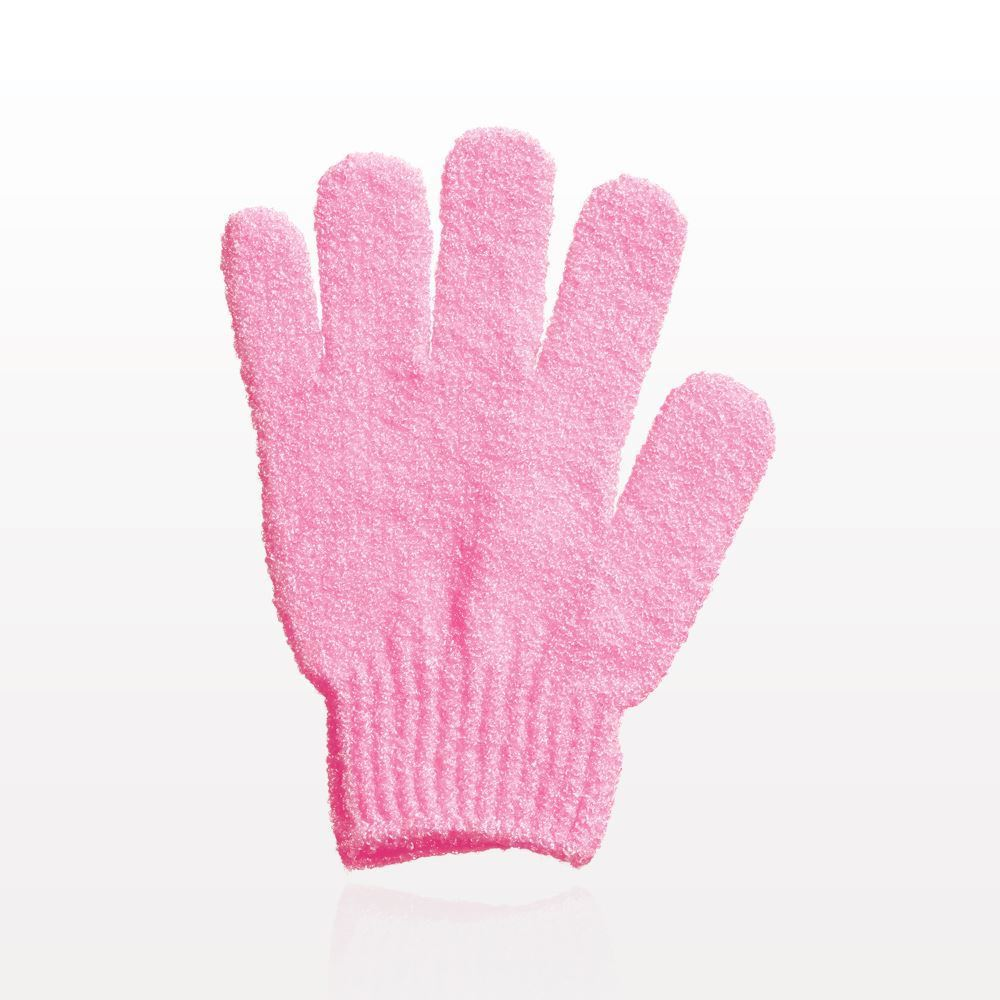 Qosmedix. Exfoliating Bath Glove with Retail Hang Tab