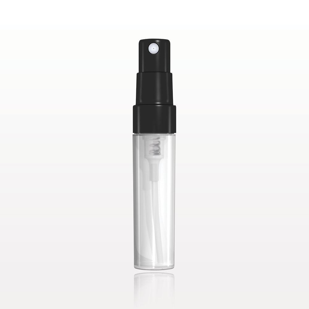 Qosmedix Screw Top Spray Bottle Natural With Pump And