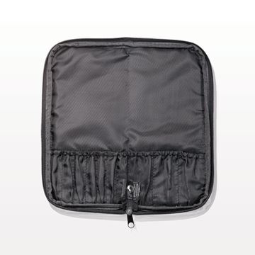 10-Pocket Zippered Brush Case, Black