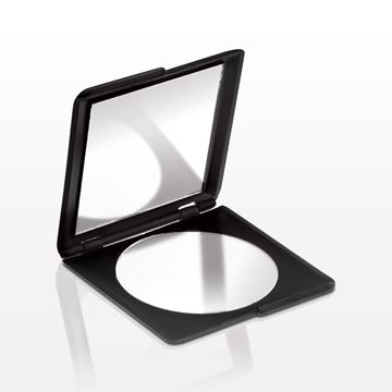 Squared Double Mirrored Compact, Black