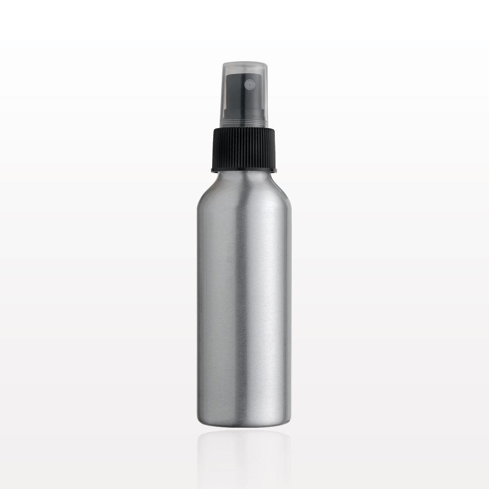 Qosmedix Aluminum Bottle And Sprayer With Overcap