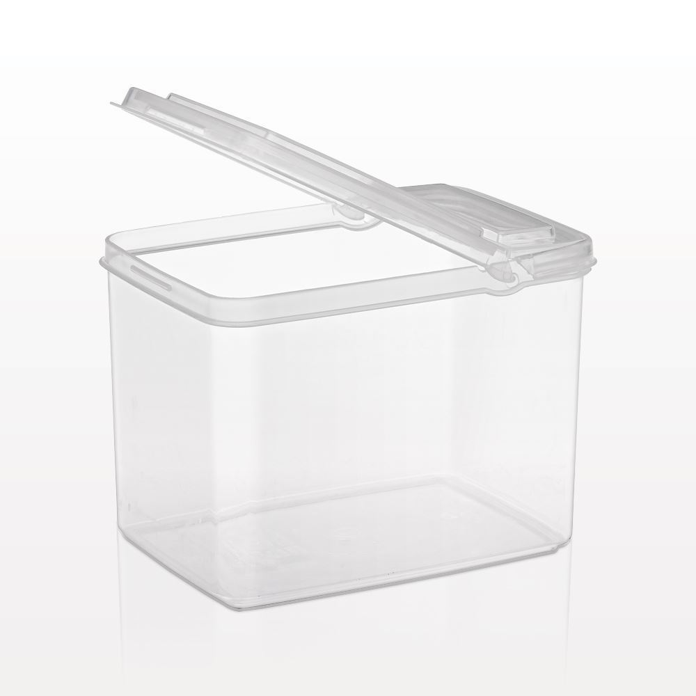 Picture Of Rectangular Container With Flip Top Lid