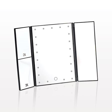 Picture of Three Panel LED Lighted Table Top Cosmetic Mirror