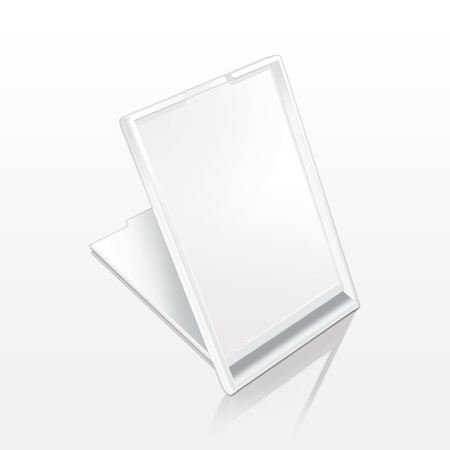 Picture of Self-Standing Rectangular Mirror, White