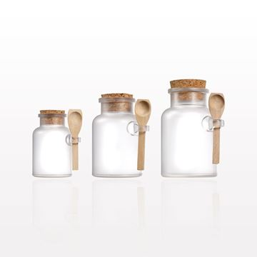 Picture of Frosted Apothecary Jar with Cap and Spoon