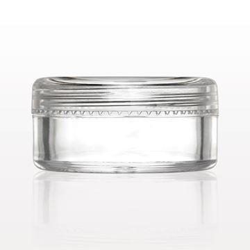 Picture of Sampling Jar with Flat Threaded Cap, Clear