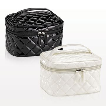 """Picture of """"The Quilted"""" Medium Cosmetic Train Case"""