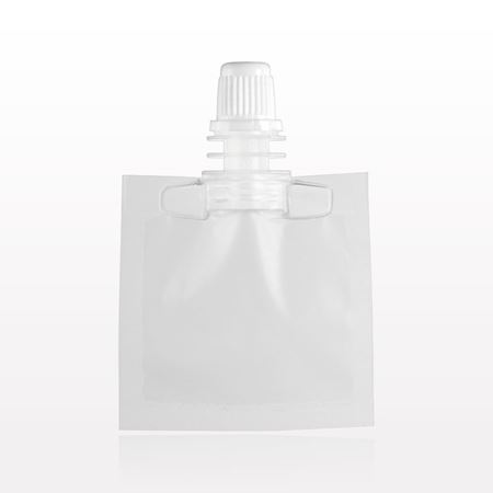 Picture of Spout Pouch, Natural with Tamper-Evident Screw Cap, White