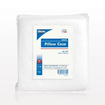 Picture of DUKAL™ Disposable Standard Pillowcase, White