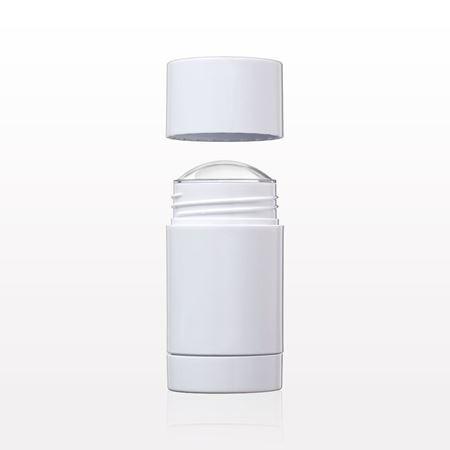 Qosmedix  Round Twist-Up Deodorant Containers and Caps