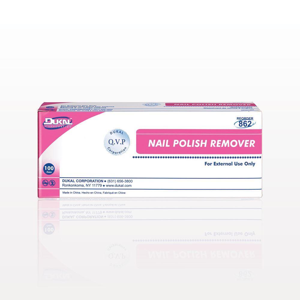 Qosmedix. DUKAL™ Non-Acetone Nail Polish Remover Pads