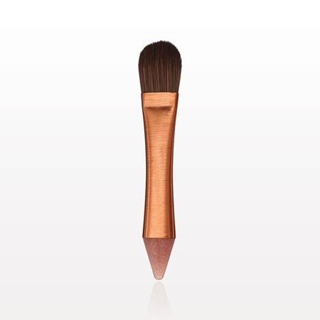Picture of Dual Ended Foundation Brush with Silicone Applicator, Rose Gold