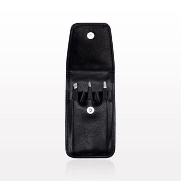 Picture of 3-Piece Tweezer Set, Black