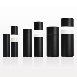 Picture of Paperboard Push-Up Balm Tube, Black