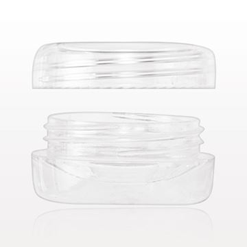 Picture of 3 gram Double Wall Jar with Cap, Clear