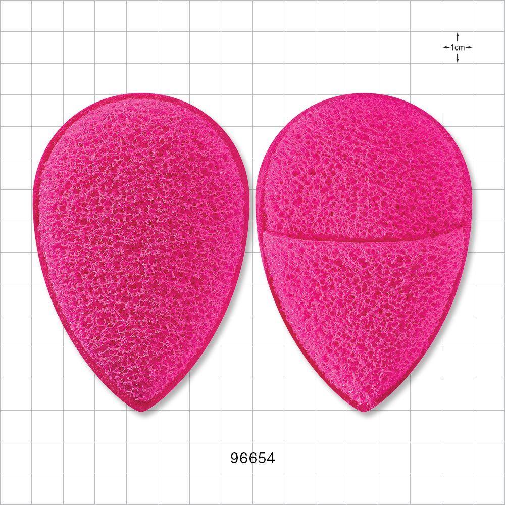 Qosmedix Finger Mitt Facial Exfoliating Sponge Pink