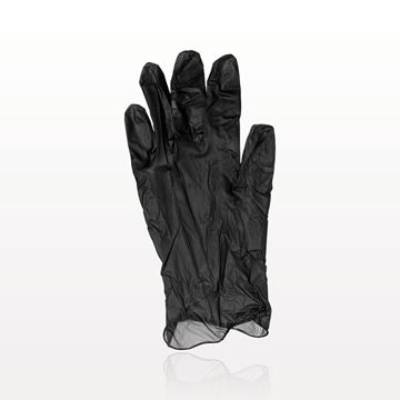 Colortrak™ Vinyl Gloves, Powder Free, Black - 599756