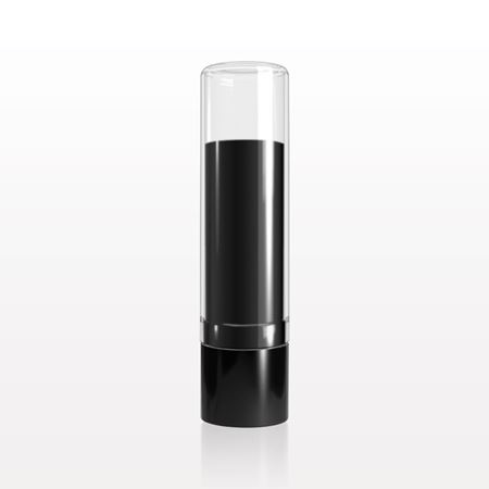 Lipstick Tube, Black with Clear Cap - 30039