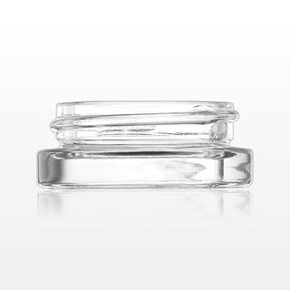 Low Profile Glass Jar, Clear - 74267