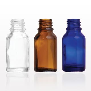 Glass Bottles, Clear, Amber, Blue - 30021 - 30022 - 30023