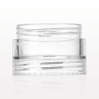 Double Threaded Stackable Jar, Clear - 29595