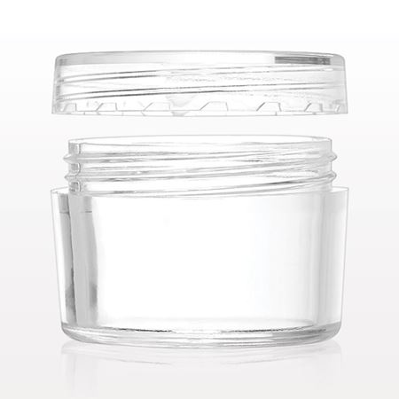 Jar, Clear, with Flat Threaded Cap - 502204 - 502205