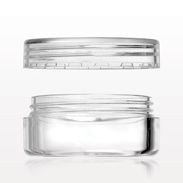 10 gram Jar with Flat Threaded Cap, Clear - 502202 - 502203