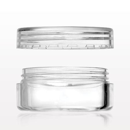 10 gram Jar with Flat Threaded Cap, Clear - 502202 - 502203