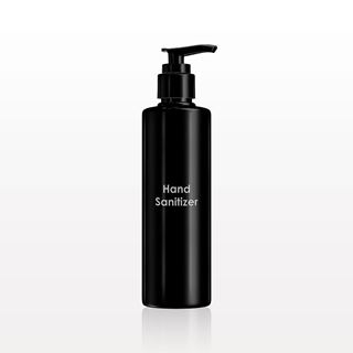 Printed Cylinder Bottle, Black with Lotion Pump for Hand Sanitizer - 30065