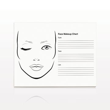 50-Page Face Makeup Chart Pad - 17105