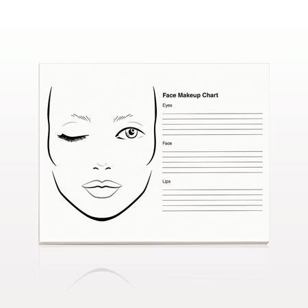 50-Page Face Makeup Chart Pad - 17105