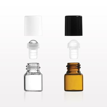 1 ml Glass Roller Ball Bottles - 30054 - 30055 - 30056 - 30057 - 30058 - 30059
