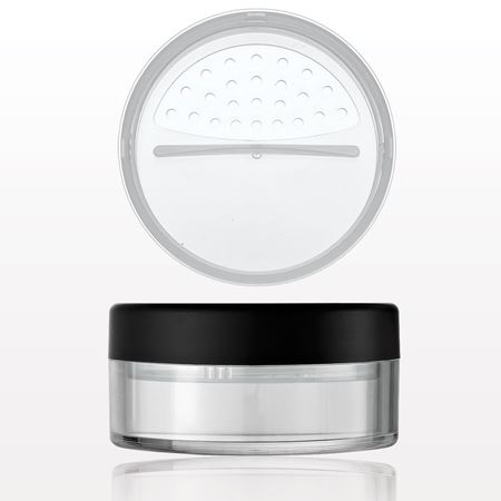 Clear Jar with Matte Black Cap and Twist/Lock Sifter - 43229