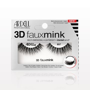 Ardell® Professional 3D Faux Mink with Invisiband® 857, Black - 513424