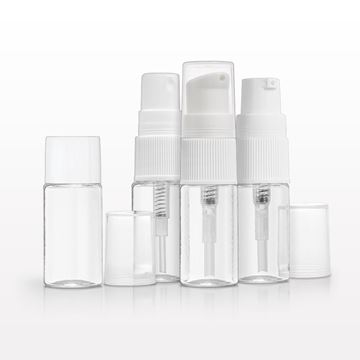10 ml PET Bottle, Clear with Interchangeable Caps - 502229 - 502224 - 502226 - 502227 - 502225