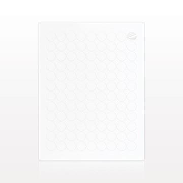 Round Matte Paper Labels, White - 502098
