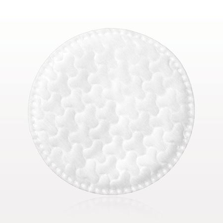 Textured Round Cotton Pad with Stitched Edges - 96624
