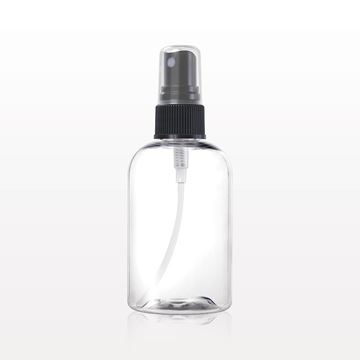 Boston Round Bottle, Clear with Spray Pump - 50063 - 50064