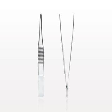 Single Use Straight Dressing Forceps, Serrated, Mirror Finish - 16080