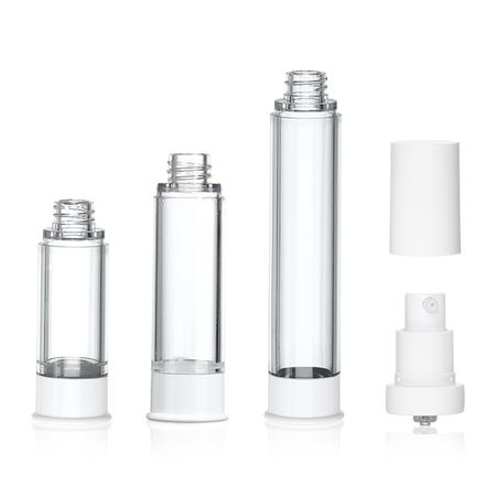 Airless Bottles with Lotion Pumps and Overcaps-29836-29837-29838-29840