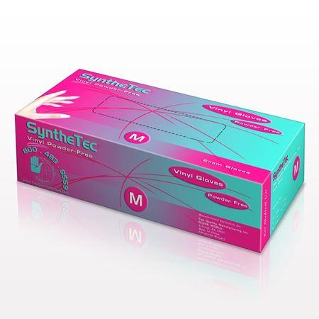 SyntheTec Latex-Free Vinyl Gloves, Powder-Free, Clear - 599824