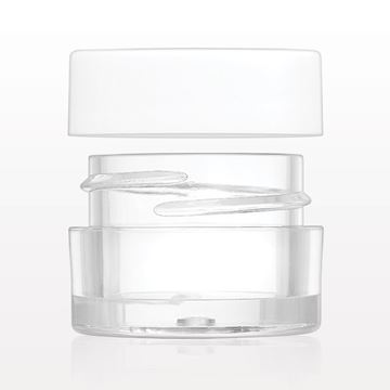 Jar, Clear and Lined Threaded Cap, White - 30084 - 30085