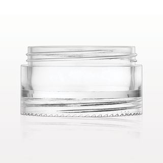 Double Threaded Stackable Jar, Clear - 30073